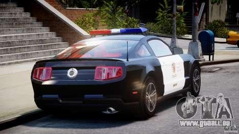Ford Mustang V6 2010 Police v1.0 für GTA 4 Seitenansicht