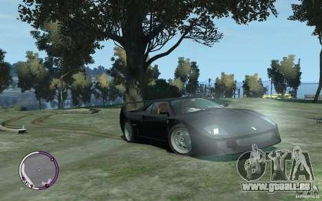 Ferrari F40 v2.0 pour GTA 4 Vue arrière
