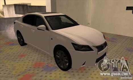 Lexus GS350 F Sport Series IV 2013 pour GTA San Andreas laissé vue