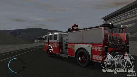 NEW Fire Truck pour GTA 4 Vue arrière de la gauche