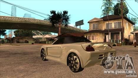 Toyota MR-S Veilside für GTA San Andreas zurück linke Ansicht