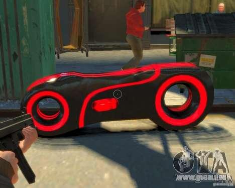 Motorrad des Throns (neonrot) für GTA 4 rechte Ansicht