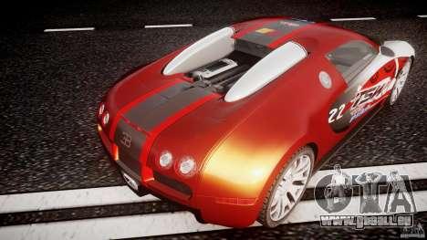 Bugatti Veyron 16.4 v1 pour GTA 4 est une vue de dessous