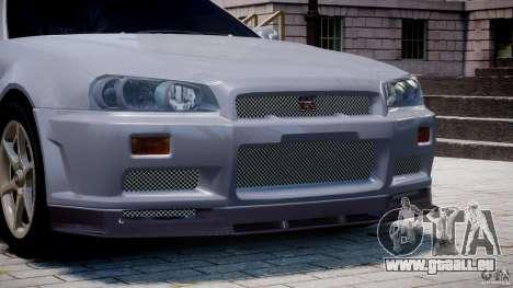 Nissan Skyline GT-R 34 V-Spec pour le moteur de GTA 4