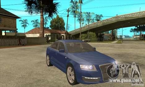 Audi S6 Limousine V1.1 pour GTA San Andreas vue arrière