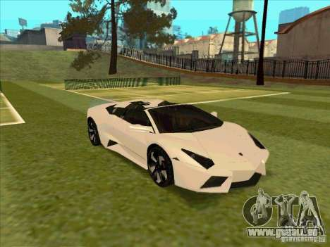 Lamborghini Reventon Convertible pour GTA San Andreas vue intérieure
