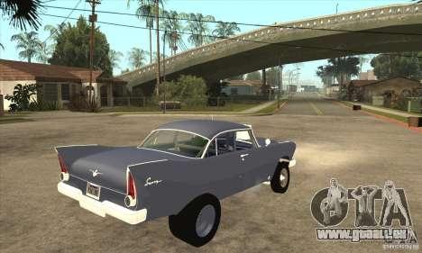 Plymouth Savoy Gasser 1957 pour GTA San Andreas vue de droite