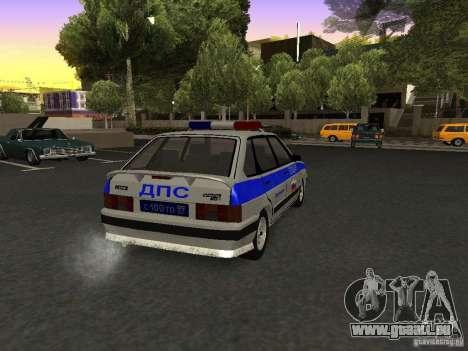 ВАЗ 2114 Police pour GTA San Andreas sur la vue arrière gauche