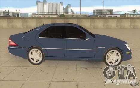 Mercedes-Benz S-Klasse pour GTA San Andreas vue intérieure
