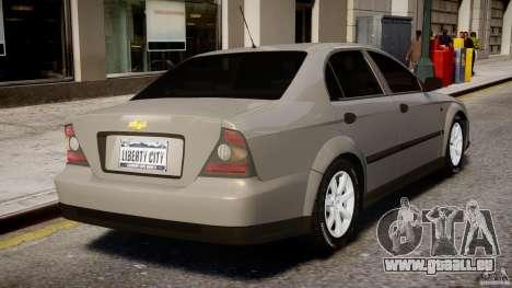 Chevrolet Evanda pour GTA 4 Salon