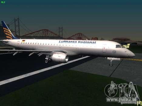 Embraer ERJ 190 Lufthansa Regional für GTA San Andreas