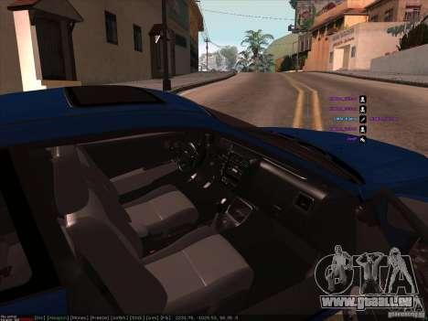 Honda Civic pour GTA San Andreas vue de droite
