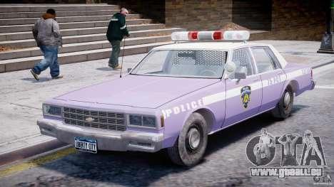 Chevrolet Impala Police 1983 v2.0 pour GTA 4 est une gauche
