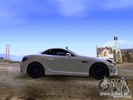 Mercedes-Benz SLK55 AMG 2012 für GTA San Andreas Innenansicht