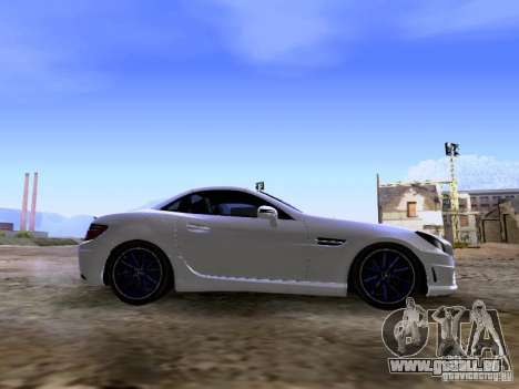 Mercedes-Benz SLK55 AMG 2012 pour GTA San Andreas vue intérieure