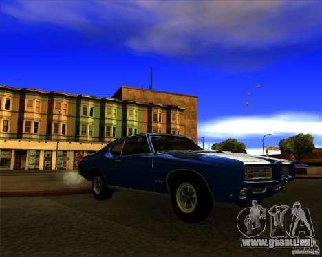 Pontiac GTO 1969 für GTA San Andreas Rückansicht