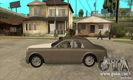 Rolls Royce Coupe 2009 pour GTA San Andreas laissé vue
