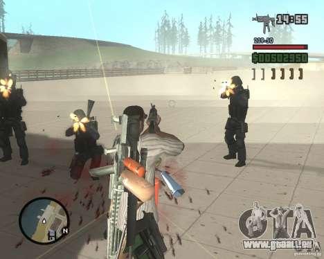 Vielzahl von Waffen zu Swat für GTA San Andreas