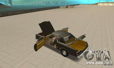 Chrysler Le Baron 1978 für GTA San Andreas Innenansicht