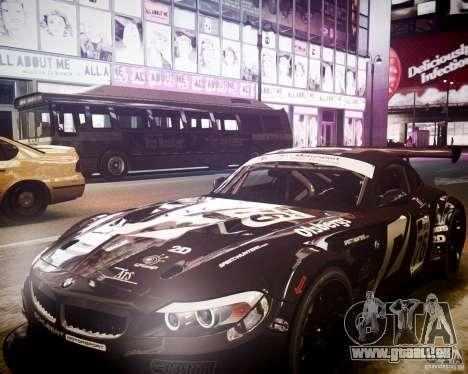 BMW Z4 GT3 2010 für GTA 4 Seitenansicht