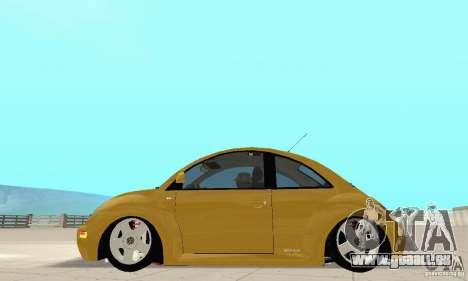 Volkswagen New Beetle GTi 1.8 Turbo pour GTA San Andreas sur la vue arrière gauche