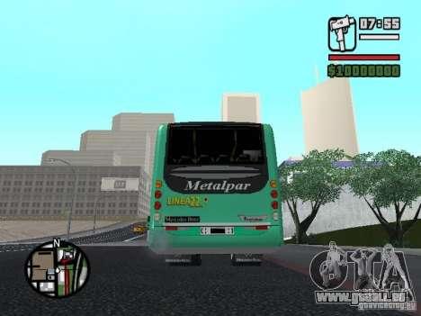 Metalpar 22 pour GTA San Andreas sur la vue arrière gauche