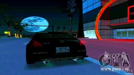 Nissan 350Z JDM für GTA San Andreas Unteransicht