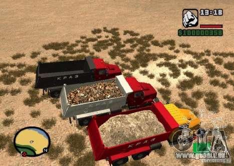 Camion KrAZ 65055 pour GTA San Andreas vue de droite
