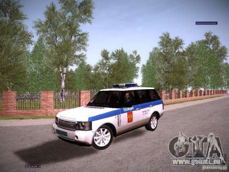 Range Rover Supercharged 2008 Police DEPARTMENT pour GTA San Andreas