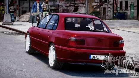 Opel Omega 1996 V2.0 First Public pour GTA 4 Vue arrière de la gauche