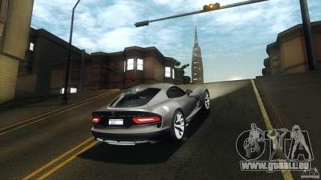 Dodge SRT Viper GTS 2012 V1.0 pour GTA San Andreas vue arrière