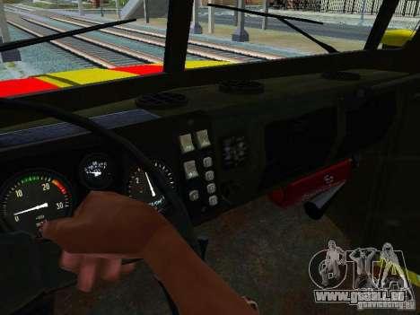 Ural 4320 GORSVET pour GTA San Andreas vue de côté