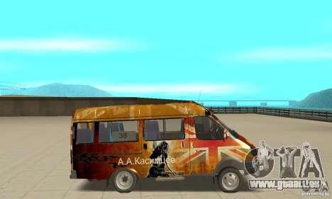 Gazelle Koulnev obezbašennaâ pour GTA San Andreas sur la vue arrière gauche