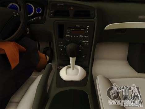 Volvo S60 pour GTA San Andreas vue de dessous