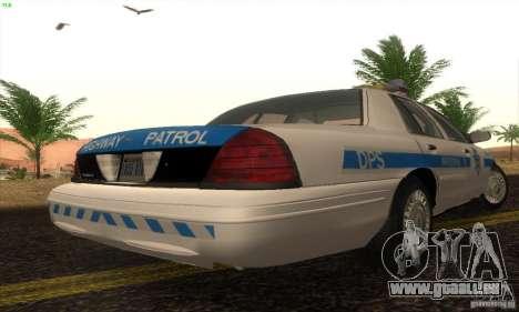 Ford Crown Victoria Arizona Police pour GTA San Andreas laissé vue