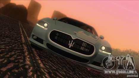 Maserati Quattroporte Sport GT V1.0 pour GTA San Andreas sur la vue arrière gauche