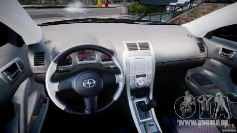 Toyota Scion tC 2.4 Stock für GTA 4 Rückansicht