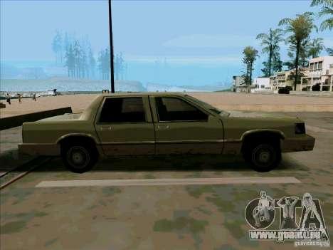 Une Limousine courte pour GTA San Andreas vue arrière