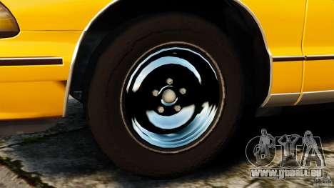 Chevrolet Caprice 1991 LCC Taxi pour GTA 4 est une vue de l'intérieur