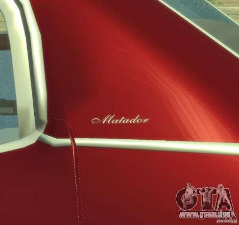AMC Matador für GTA 4 Innenansicht