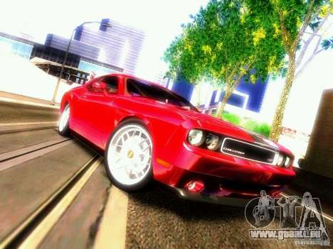 Dodge Challenger SRT8 2009 für GTA San Andreas Innenansicht
