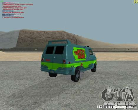 GMC Van 1983 pour GTA San Andreas vue de droite