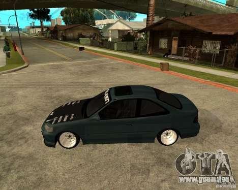 Honda Civic Coupe V-Tech pour GTA San Andreas laissé vue
