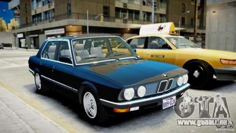BMW 535 E28 pour GTA 4 est une gauche