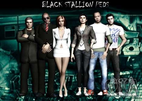 Black Stallion Peds für GTA San Andreas