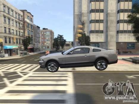 Shelby GT500 2010 pour GTA 4 vue de dessus