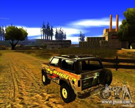 Blazer XL FlatOut2 für GTA San Andreas zurück linke Ansicht