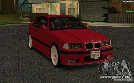 BMW E36 M3 1997 Coupe Forza pour GTA San Andreas vue arrière