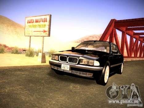 BMW 730i e38 1997 pour GTA San Andreas vue de droite