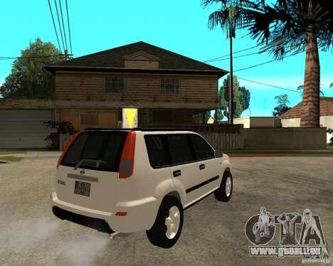 NISSAN X-TRAIL 2001 pour GTA San Andreas sur la vue arrière gauche